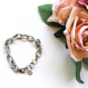 Stella & Dot Silver Tone Chainlink Bracelet